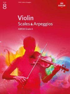 Violin Scales & Arpeggios ABRSM Grade 8