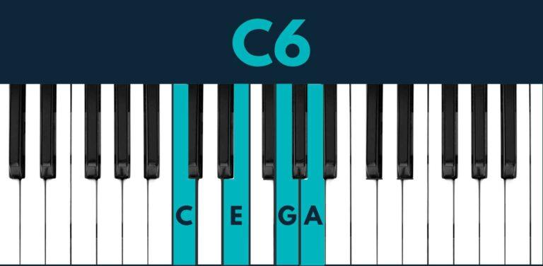C6 piano chord
