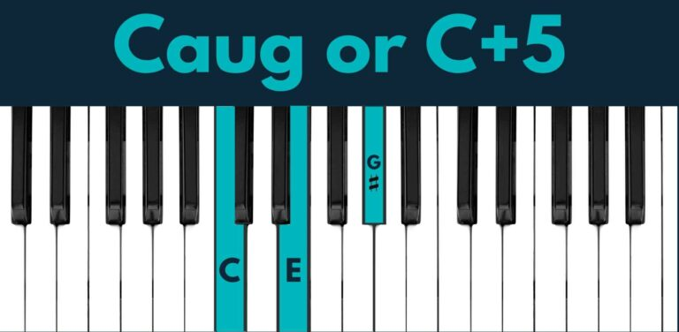 C augmented piano chord