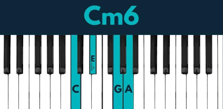 C minor 6 piano chord