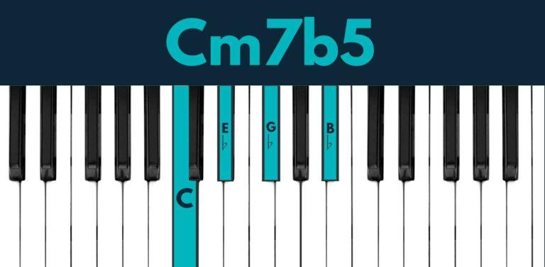 C minor 7 flat 5 piano chord