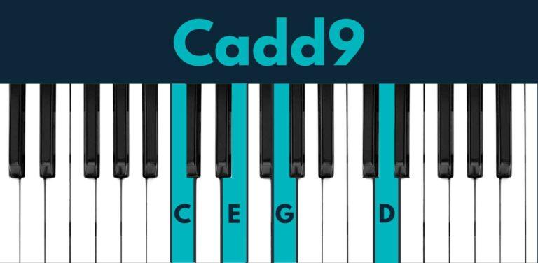 Cadd9 piano chord