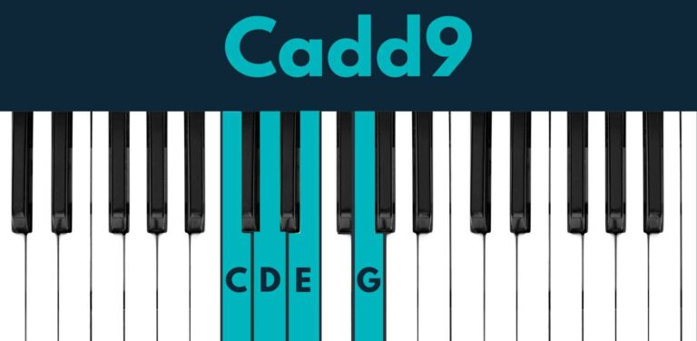 Cadd9 piano chord - easy inversion