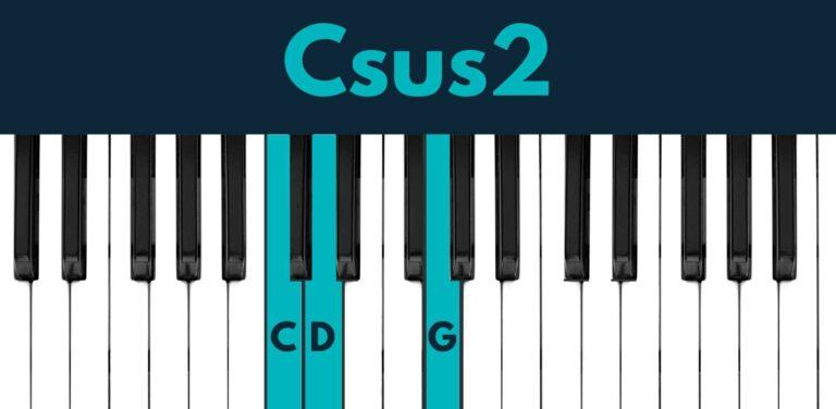 Csus2 piano chord