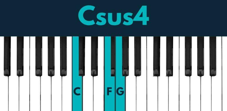 Csus4 piano chord