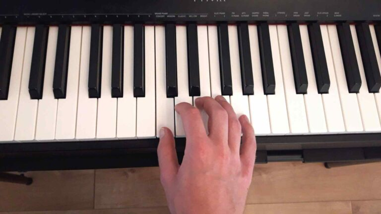 Piano right hand first position